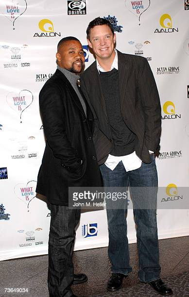 Cuba Gooding Jr amd Matthew Lillard attend the Los Angeles Premiere Of What Love Is at the Directors Guild of America on March 20 2007 in Los Angeles...