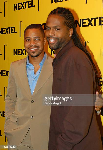 Cuba Gooding Jr and AJ Calloway during 2004 Nascar Nextel Cup Series Champion's Celebration at Marquee in New York City New York United States