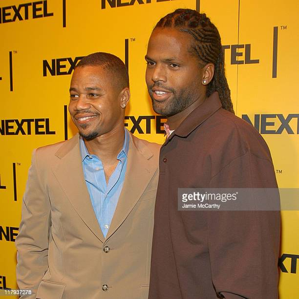 Cuba Gooding Jr and AJ Calloway during Nascar Nextel Cup Series Champion's Celebration at Marquee in New York City New York United States