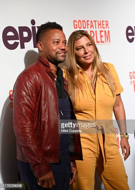 Cuba Gooding Jr and Claudine De Niro attend the Godfather Of Harlem New York Screening at The Apollo Theater on September 16 2019 in New York City