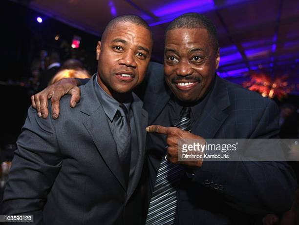 Cuba Gooding Jr and Cuba Gooding Sr attend at the after party for American Gangster New York City Premiere at The Apollo Theater on October 19 2007...