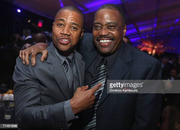 Cuba Gooding Jr and Cuba Gooding Sr attend at the after party for 'American Gangster' New York City Premiere at The Apollo Theater on October 19 2007...