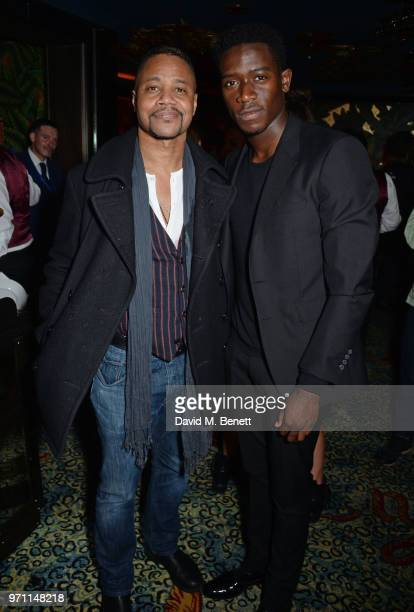 Cuba Gooding Jr and Damson Idris attend the GQ Style and Browns LFWM Party at Annabels on June 10 2018 in London England