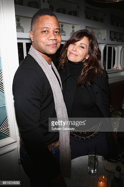Cuba Gooding Jr and Gina Gershon attends The Cinema Society Hosts the After Party for HBO's 'The Young Pope' on January 11 2017 in New York City