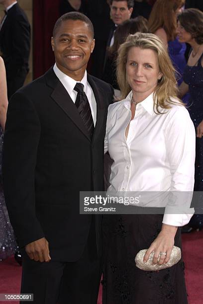 Cuba Gooding Jr and his wife Sara during The 75th Annual Academy Awards Arrivals at The Kodak Theater in Hollywood California United States