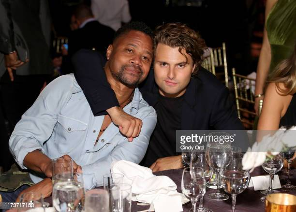 Cuba Gooding Jr and Jack BrinkleyCook attend the Mosaic Federation Gala Against Human Slavery on September 10 2019 at Cipriani 42nd Street in New...
