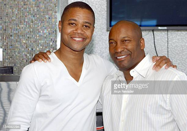 Cuba Gooding Jr and John Singleton during Cinevegas Film Festival 2005 Hollywood Reporter Cocktail Party Day 1 at The Palms in Las Vegas Nevada...
