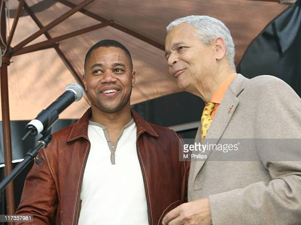 """Cuba Gooding Jr. And Julian Bond during 4th Annual """"Stars and GM Cars"""" Celebrity Brunch at Cabanna Club in Los Angeles, CA, United States."""