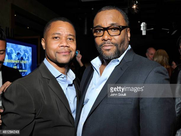 Cuba Gooding Jr and Lee Daniels attend the Weinstein Company's holiday party at RivaBella on November 21 2013 in West Hollywood California