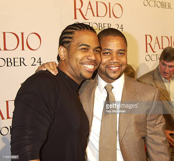 Cuba Gooding Jr and Omar Gooding during Radio Premiere Red Carpet at Academy of Motion Pictures Arts and Sciences in Beverly Hills California United...