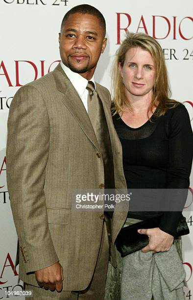 Cuba Gooding Jr and Sara Kapfer during 'Radio' Hollywood Premiere at The Academy of Motion Pictures Arts and Science in Hollywood California United...
