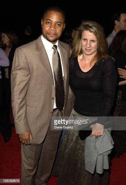 Cuba Gooding Jr and Sara Kapfer during 'Radio' Premiere Arrivals at Academy Theatre in Beverly Hills California United States