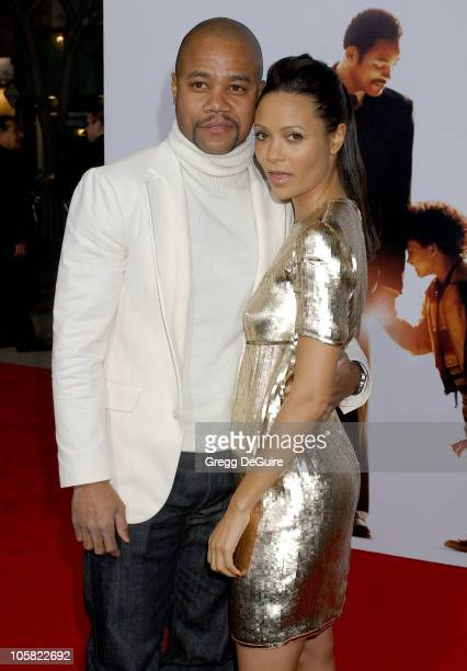 Cuba Gooding Jr and Thandie Newton during The Pursuit Of Happyness Los Angeles Premiere Arrivals at Mann Village Theatre in Westwood California...