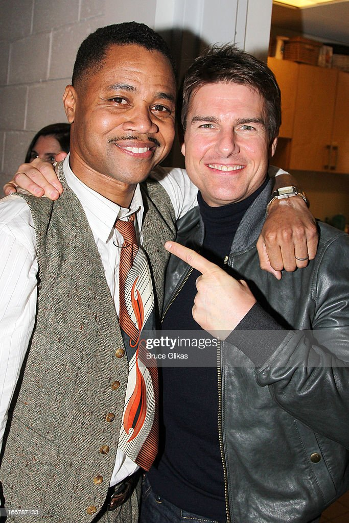 """Tom Cruise visits """"The Trip To Bountiful"""" On Broadway"""