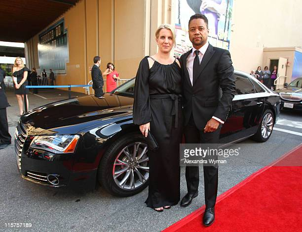 Cuba Gooding Jr and wife Sara Kapfer at The Audi Arrivals held at The 39th AFI Life Achievement Award Honoring Morgan Freeman at Sony Pictures...