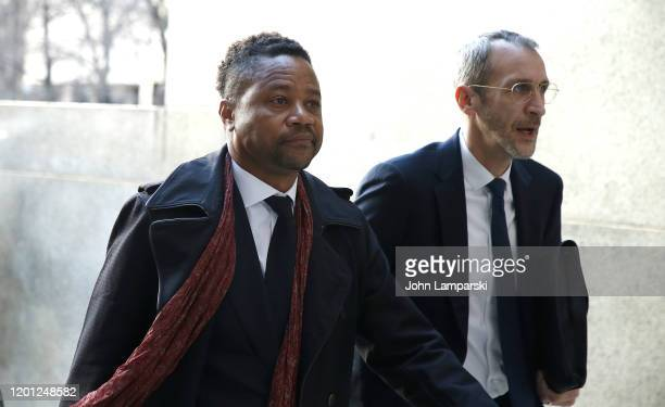 Cuba Gooding Jr arrives at court in lower Manhattan on January 22 2020 in New York City