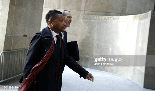 Cuba Gooding Jr. Arrives at court in lower Manhattan on January 22, 2020 in New York City.