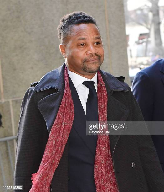 Cuba Gooding Jr. Arrives at Manhattan Criminal Court on January 22, 2020 in New York City.