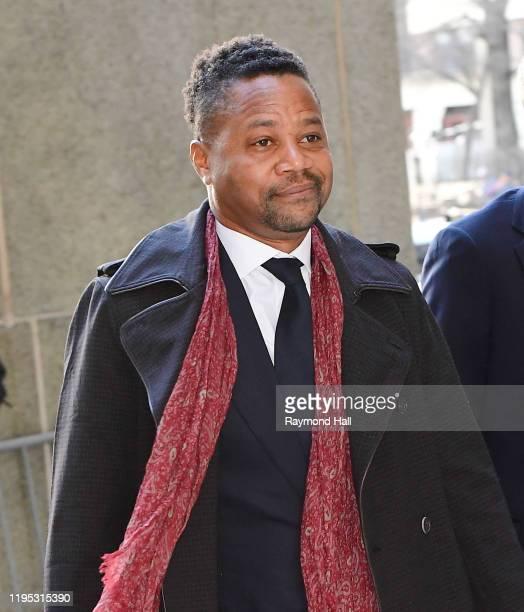 Cuba Gooding Jr arrives at Manhattan Criminal Court on January 22 2020 in New York City