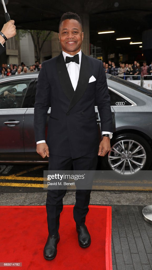 Cuba Gooding Jr arrives in an Audi at the BAFTA TV on Sunday 14 May 2017 on May 14, 2017 in London, United Kingdom.