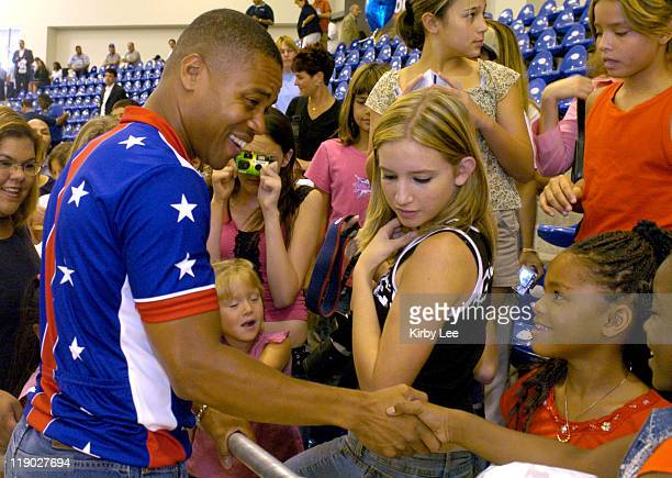 Cuba Gooding Jr at the grand opening of the ADT Event Center at the Home Depot Center in Carson California on July 21 2004