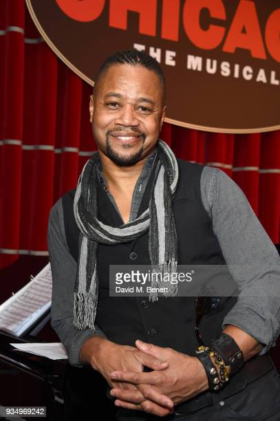 Cuba Gooding Jr attends a drinks reception celebrating the new 2018 production of 'Chicago The Musical' at Bar Zedel on March 20 2018 in London...