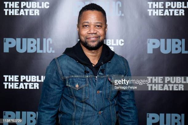 Cuba Gooding Jr. Attends 'Ain't No Mo' opening night at The Public Theater on March 27, 2019 in New York City.