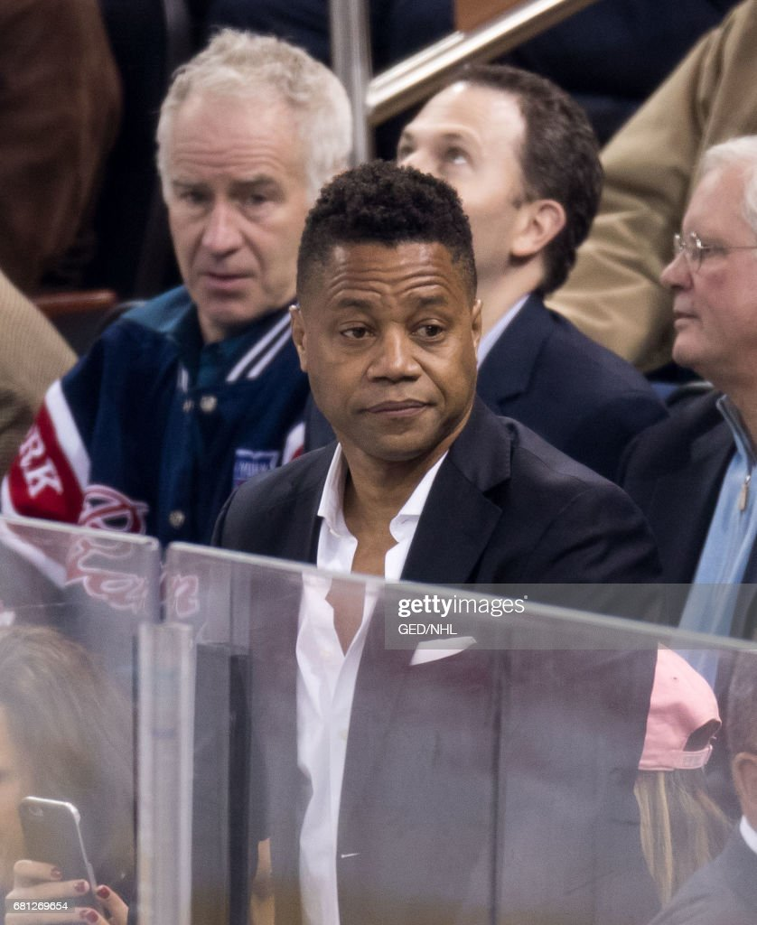 Cuba Gooding, Jr. attends Ottawa Senators Vs. New York Rangers 2017 Playoff Game on May 9, 2017, at Madison Square Garden in New York City.