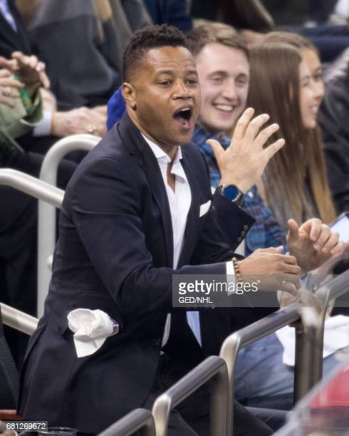 Cuba Gooding Jr attends Ottawa Senators Vs New York Rangers 2017 Playoff Game on May 9 at Madison Square Garden in New York City