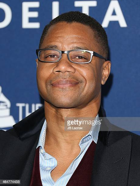 Cuba Gooding Jr attends the Delta Air Lines 2014 GRAMMY Weekend Private Reception And Performance With Lorde held at Soho House on January 23 2014 in...