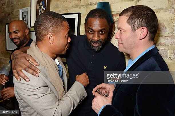 Cuba Gooding Jr Idris Elba and Dominic West attend Harvey Weinstein's BAFTA Dinner in partnership with Burberry GREY GOOSE at Little House Mayfair on...