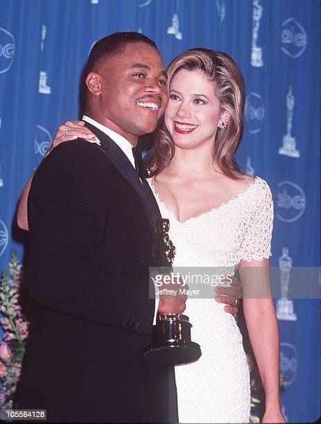 Cuba Gooding Jr Mira Sorvino during The 69th Annual Academy Awards Press Room at Shrine Auditorium in Los Angeles California United States
