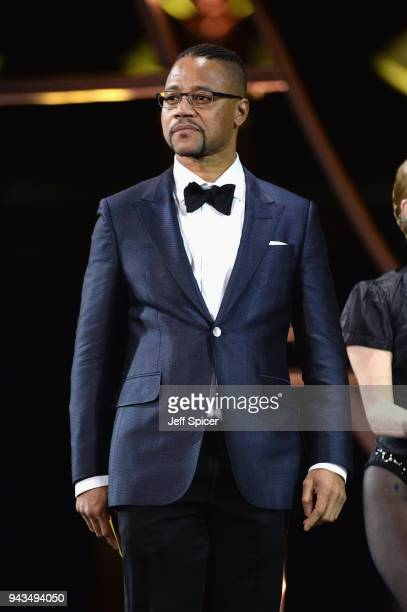 Cuba Gooding Jr. On stage during The Olivier Awards with Mastercard at Royal Albert Hall on April 8, 2018 in London, England.