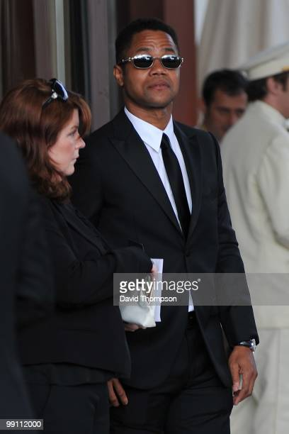 Cuba Gooding jr Seen leaving his hotel this evening on May 12 2010 in Cannes France