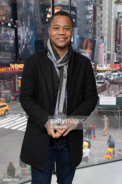 Cuba Gooding Jr visits 'Extra' at their New York studios at H&M in Times Square on December 16, 2014 in New York City.