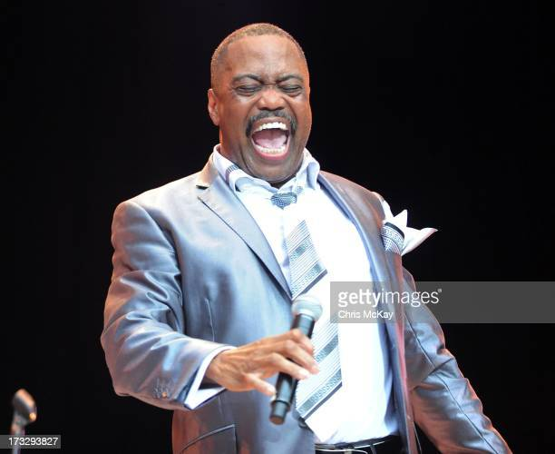 Cuba Gooding Sr of The Main Ingredient performs at Chastain Park Amphitheater on July 10 2013 in Atlanta Georgia