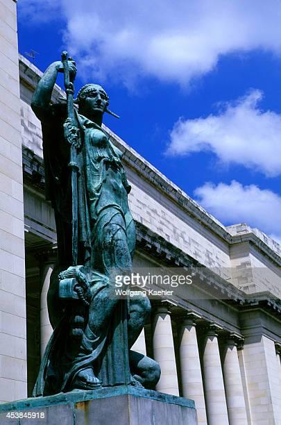 Cuba Havana Capitol Building Giant Bronze Statue At Entrance
