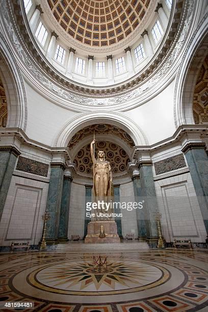 Cuba Havana Centro Habana Salon de Los Pasos Perdilos bronze Statue of the Republic under National Capitol buildings cupola