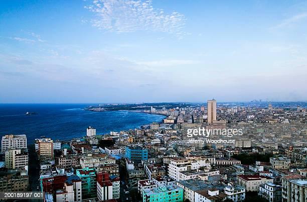Cuba, Havana, cityscape, elevated view