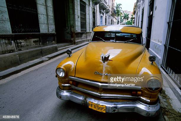 Cuba Havana Street Scene Old Chrysler Car