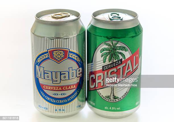 Cuba made products Mayabe and Cristal beer tin cans produced in Cuba Mayabe and Cristal both brands of beer are produced by Cerveceria Bucanero SA...