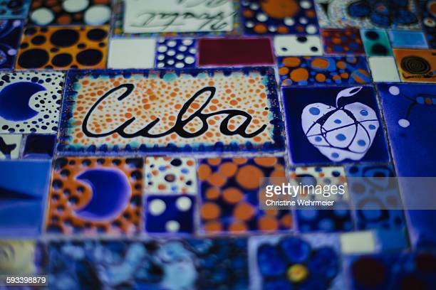 cuba mosaic - christine wehrmeier stock photos and pictures