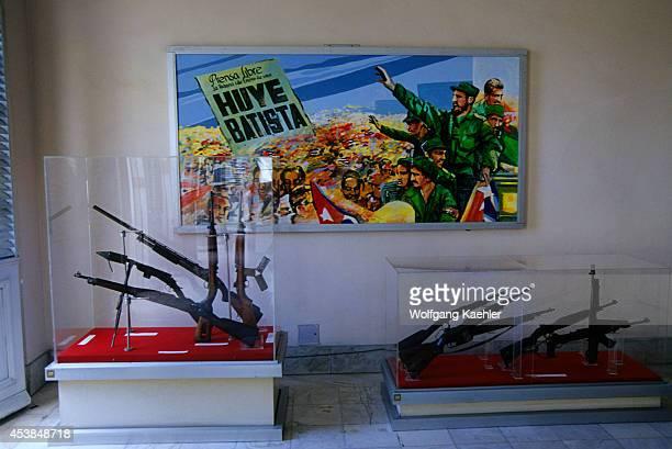 Cuba Old Havana Museum Of The Revolution Interior Weapons And Billboard