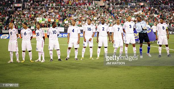 Cuba poses for their team photo of Match 8 against Mexico during the CONCACAF Gold Cup 2011 at Bank of America Stadium in Charlotte North Carolina...