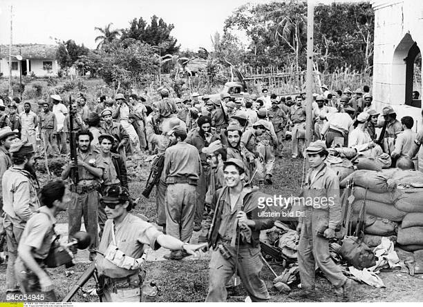 Cuba Revolution 1958/59 Fidel Castro's revolutionary army in the surroundings of Havana shortly before the capture of the city