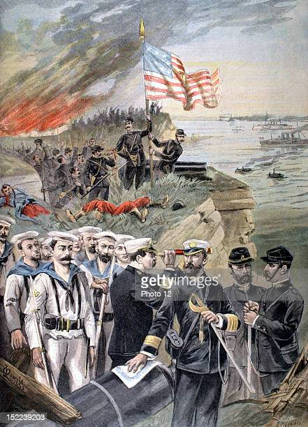Cuba Spanish-American War, Landing of American troops at Guantanamo, in 'Le Petit journal' from July 3, 1898.