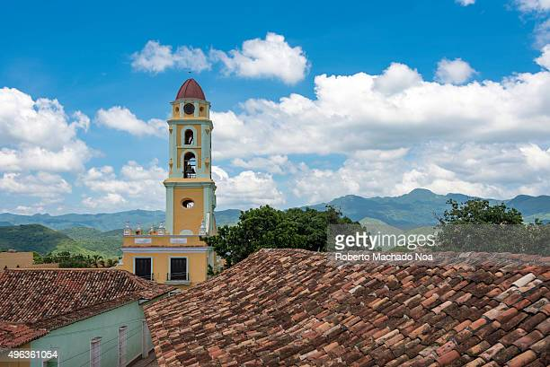 Cuba tourism Tower of St Francis of Assisi Convent and Church Trinidad UNESCO World Heritage Site Cuba The tower is located in the town Main Plaza...