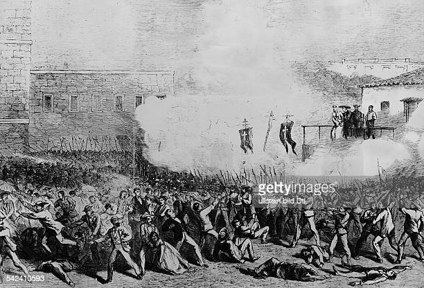 Cuba War of Independence 18681878 Guerra Large 18681878 the 'Long War' execution of Francisco Leon and Augustin Medina in Havanna on 841869 Leon's...