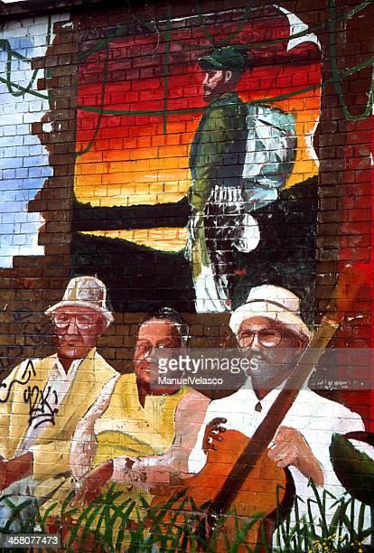 cuba-irlande 1 - belfast murals photos et images de collection