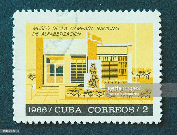 Cuban 1966 stamp depicting a museum related to the National campaign on literacy